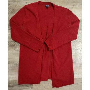 Patagonia Womens Red Raglan Cardigan Size Medium